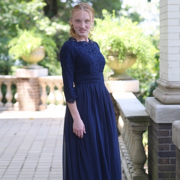 bc8099ee3736 Dainty Jewells Dresses & Skirts - DAINTY JEWELLS English Manor Navy Dress  Modest XL